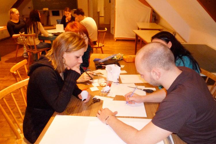 Teamfindung beim ersten Layouter-Workshop